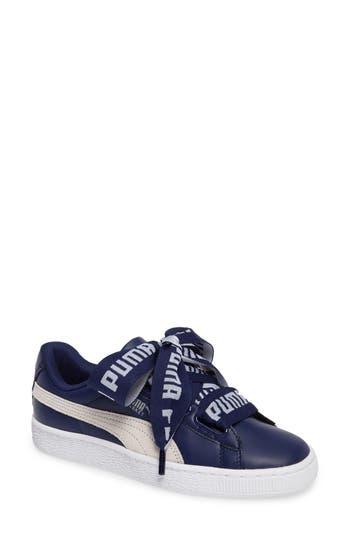 Puma Basket Heart Sneaker, Blue