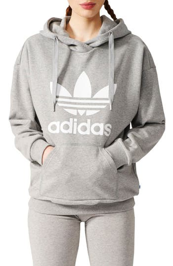 Adidas Originals Logo Hoodie, Grey