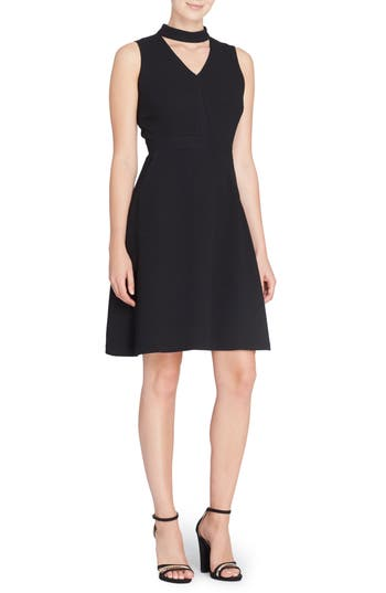 Catherine Catherine Malandrino Wendy Choker Fit & Flare Dress, Black