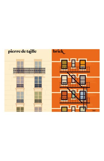 Image Republic Vahram La Facade Print, Size One Size - Orange