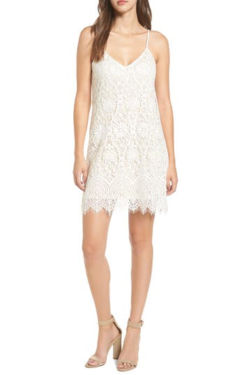 Socialite Lace Body-Con Dress, Ivory