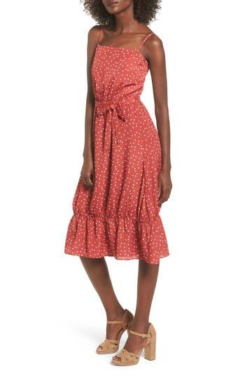 Lovers + Friends Basil Midi Dress, Red