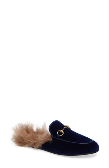 Gucci Princetown Genuine Shearling Mule Loafer