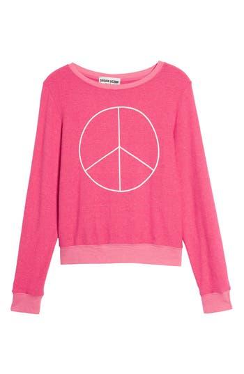 Women's Dream Scene Peace Sweatshirt, Size XX-Small - Pink