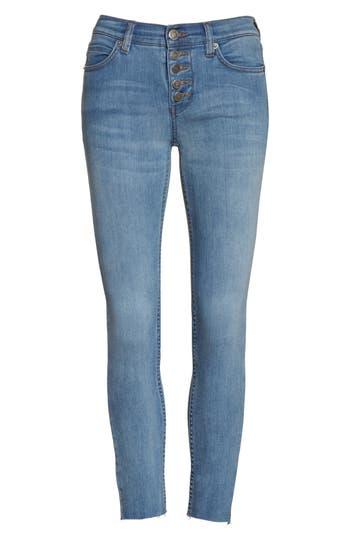 Free People Reagan Crop Skinny Jeans, Blue
