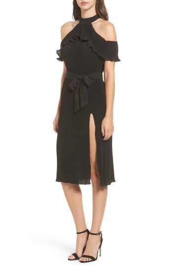 Nbd Kierra Cold Shoulder Dress, Black