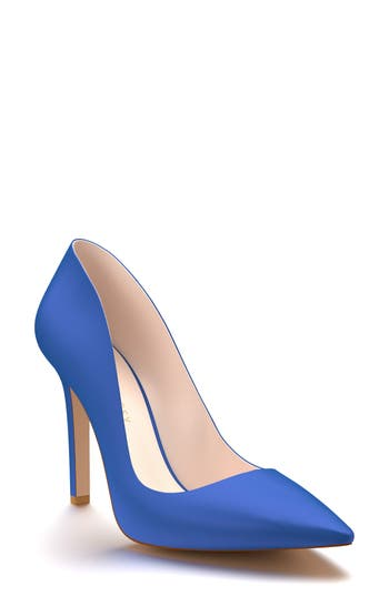 Shoes Of Prey Pointy Toe Pump, Blue
