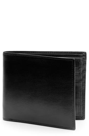 Bosca Aged Leather Executive Rifd Wallet - Black