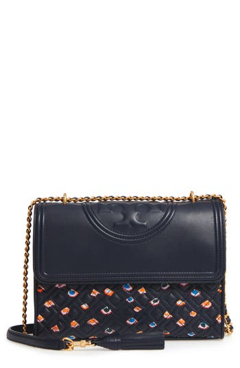 Tory Burch Fleming Quilted Leather Shoulder Bag -