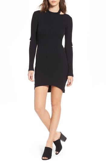 Lush Elbow Cutout Dress, Black