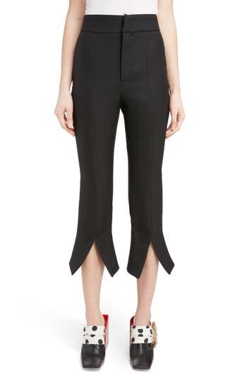 Jacquemus Slit Cuff Crop Flare Pants, 4 FR - Black