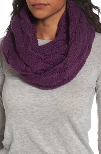 Women's Cc Cable Knit Infinity Scarf