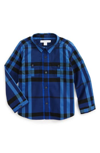Toddler Boy's Burberry Trent Plaid Woven Shirt
