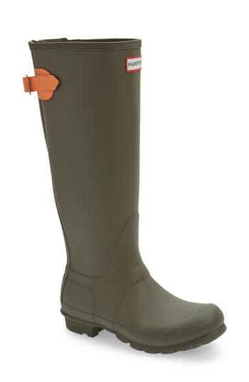Hunter Adjustable Calf Rain Boot, Green