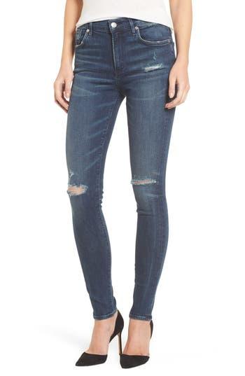Agolde Sophie High Waist Skinny Jeans, Blue