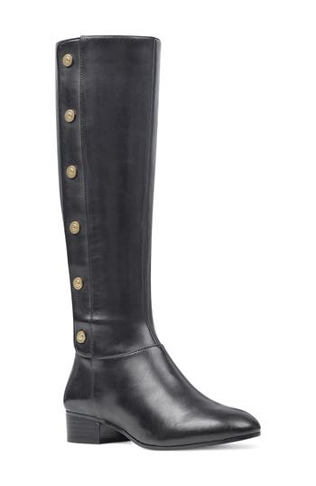 Nine West Oreyan Knee High Boot Wide Calf- Black