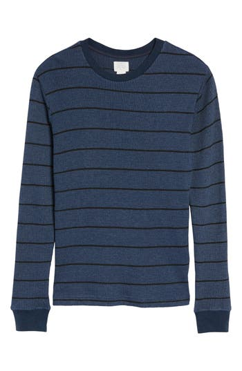 Rvca Neutral Stripe Thermal T-Shirt, Blue