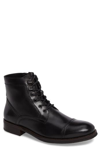 Kenneth Cole New York Cap Toe Boot- Black