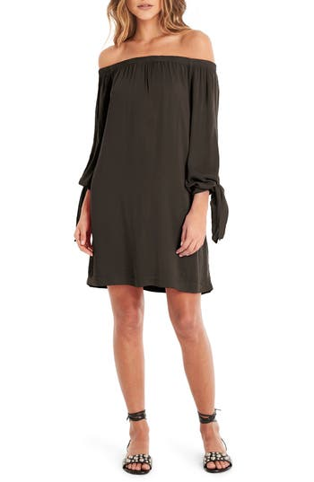 Michael Stars Tie Sleeve Shift Dress, Grey