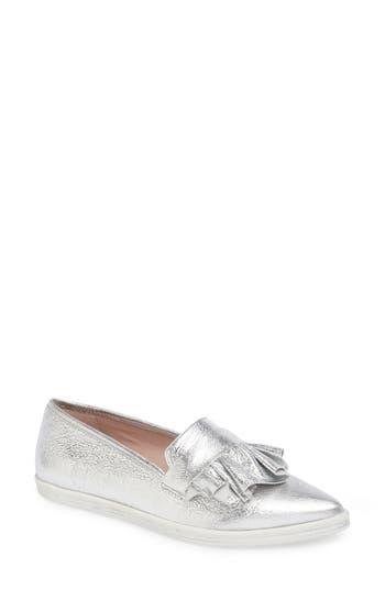 Women's James Chan Taraji Ruffle Slip-On Sneaker, Size 9 M - Metallic