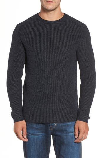 Rodd & Gunn Whalers Bay Ribbed Merino Wool Sweater, Blue