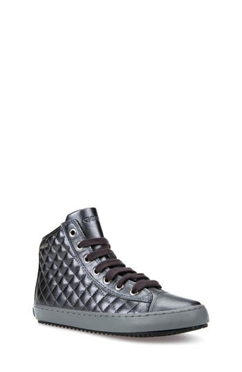 Girls Geox Kalispera Girl Quilted HighTop Sneaker