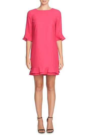 Women's Cece 'Kate' Ruffle Hem Shift Dress, Size 0 - Pink