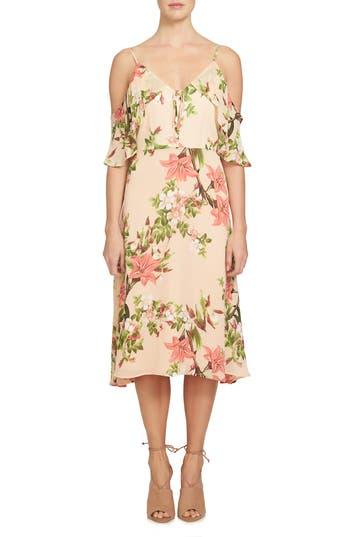 Cece Alice Cold Shoulder Midi Dress