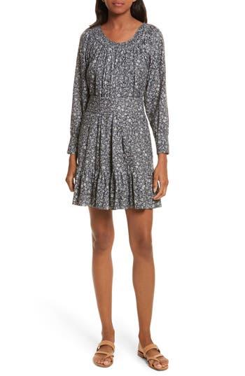 La Vie Rebecca Taylor Adeline Long Sleeve Dress, Grey