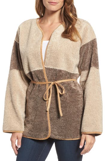 Women's Velvet By Graham & Spencer Reversible Faux Shearling Jacket, Size X-Small - Brown