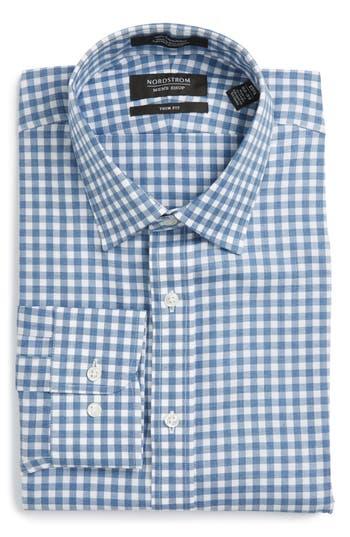 Men's Nordstrom Men's Shop Trim Fit Check Dress Shirt