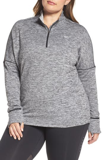 Plus Size Nike Sphere Element Long Sleeve Running Top, Black