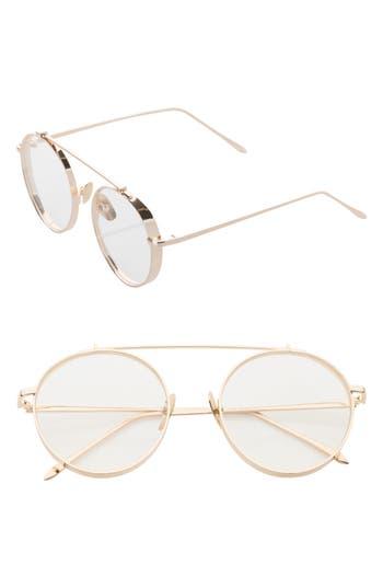Women's Sunnyside La 55Mm Round Sunglasses - Gold