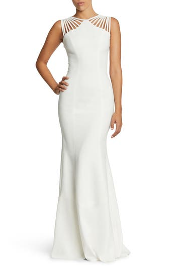 Dress The Population Harlow Crepe Gown, Ivory