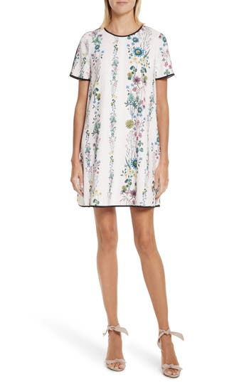 Ted Baker London Soffiah Floral Shift Dress, Pink