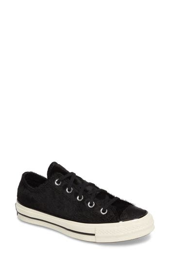 Chuck Taylor All Star Ox Genuine Calf Hair Sneaker, Black