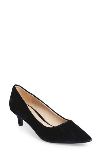 Pelle Moda Dena Pointy Toe Pump, Blue