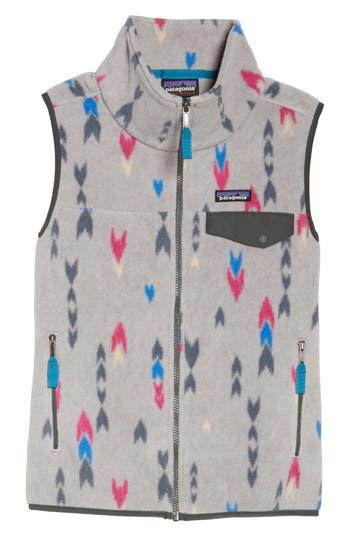 Women's Patagonia 'Snap-T' Fleece Vest, Size X-Small - Grey