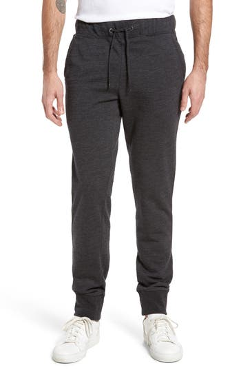 Ugg Merino Wool Fleece Jogger Pants, Black
