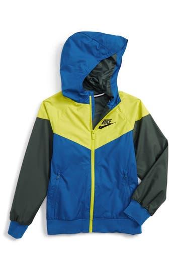 Boy's Nike Windrunner Water Resistant Hooded Jacket