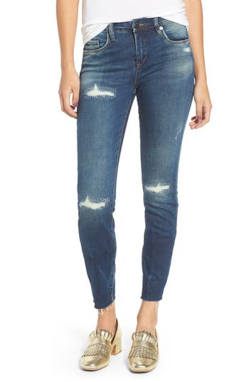 Blanknyc High Dive Ripped Skinny Jeans, Blue