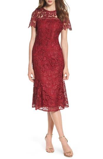 Shoshanna Park Lace Midi Dress