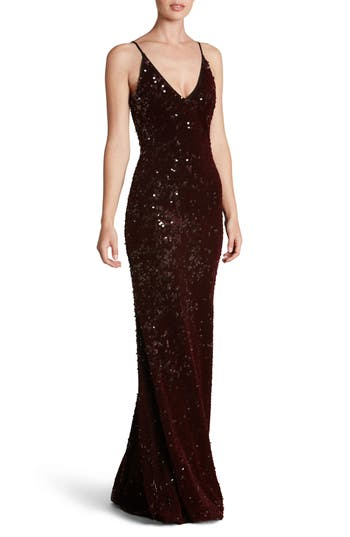 Dress The Population Vanessa Sequin Gown, Purple