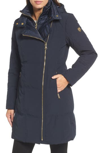 Vince Camuto Down & Feather Fill Coat, Blue