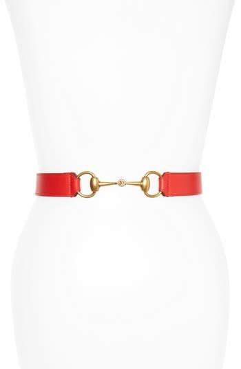 Gucci Horsebit Calfskin Leather Belt