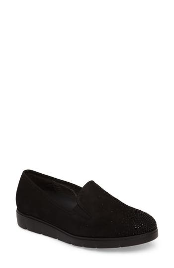 Gabor Embellished Slip-On Loafer, Black