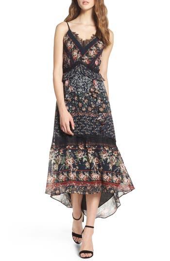 Adelyn Rae Marcella High/low Hem Midi Dress, Black