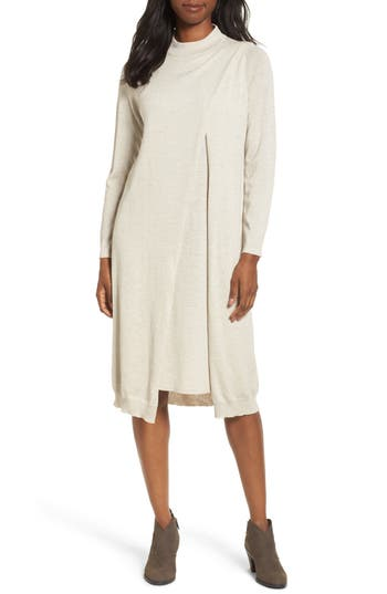 Eileen Fisher Wool Sweater Dress, Ivory