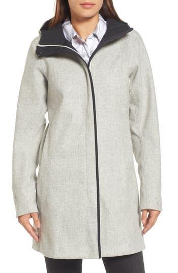 Women's Arc'Teryx Embra Hooded Walking Coat, Size X-Small - Beige