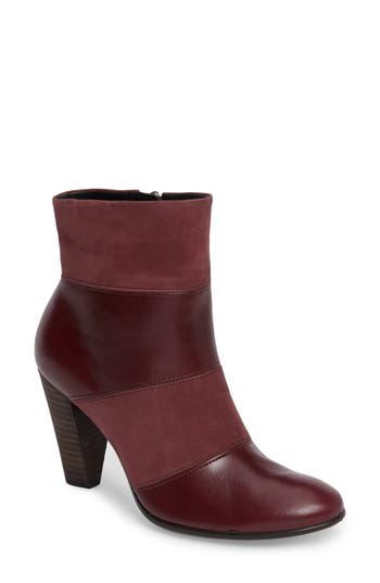 Ecco Shape 75 Pieced Bootie, Burgundy